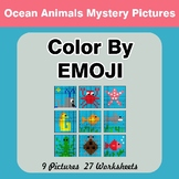 Color by Emoji - Mystery Pictures - Ocean Animals