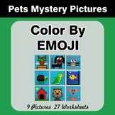 Color by Emoji - Mystery Pictures - Pets