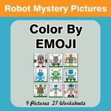 Color by Emoji - Mystery Pictures - Robots