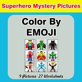 Color by Emoji - Mystery Pictures - Superhero