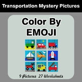 Color by Emoji - Mystery Pictures - Transportation