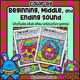 Color by Ending, Middle, or Beginning Sound {Easter}