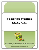 Color by Factor - Factoring Practice