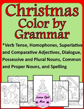 Color by Grammar Christmas Theme