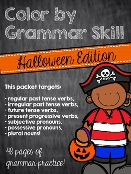 Color by Grammar Skill: Halloween Edition