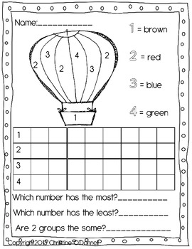 Color by # & Graph worksheets: #'s. letters, sight words