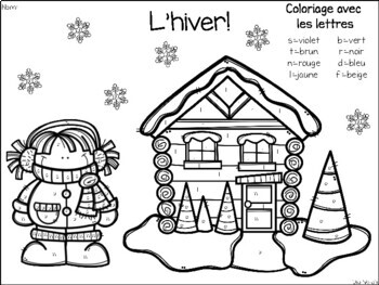 Color by Letter-Winter