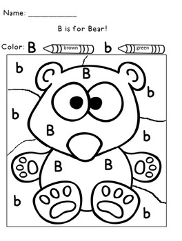 Color By Letter Alphabet Practice By 1st Grade Salt Life Tpt