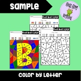 Color by Letter | Alphabet Recognition Worksheets | Letter of the Week