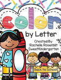 Color by Letter {Back to School Edition}