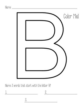 Color by Letter - Capital Letters - Alphabet Practice
