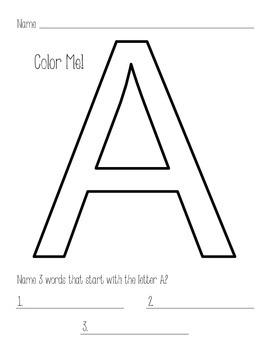 Color by Letter - Capital Letters - Alphabet Practice