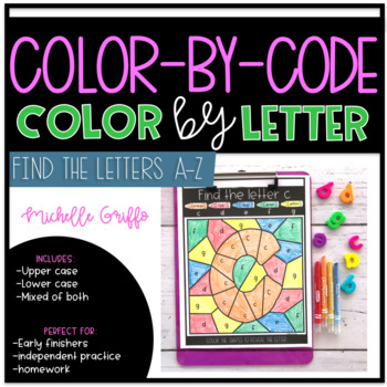 Color by Letter - Color by Code