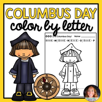 Color by Letter: Columbus Day