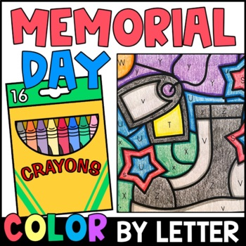Color by Letter: Fourth of July, Independence Day, Flag Day