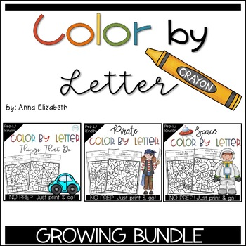 Color by Letter GROWING BUNDLE