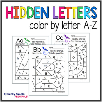 Color by Letter Hidden Letters