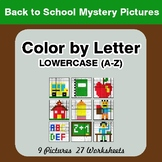 Color by Letter: Lowercase (A-Z) - Back To School Mystery