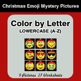 Color by Letter: Lowercase (A-Z) - Christmas Emoji Mystery