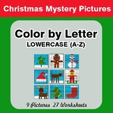 Color by Letter: Lowercase (A-Z) - Christmas Mystery Pictures