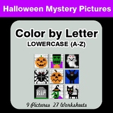 Color by Letter: Lowercase (A-Z) - Halloween Mystery Pictures