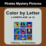 Color by Letter: Lowercase (A-Z) - Pirates Mystery Pictures