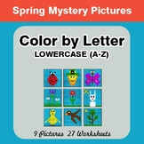 Color by Letter: Lowercase (A-Z) - Spring Mystery Pictures