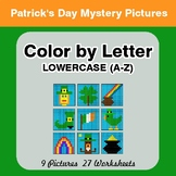 Color by Letter: Lowercase (A-Z) - St. Patrick's Mystery Pictures
