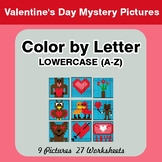 Color by Letter: Lowercase (A-Z) - Valentine's Day Mystery