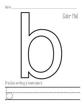 Color by Letter - Lowercase Letters - Alphabet Practice