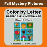 Color by Letter: Lowercase & Uppercase - Autumn (Fall) Mys