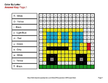 Color by Letter: Lowercase & Uppercase - Back To School Mystery Pictures