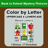 Color by Letter: Lowercase & Uppercase - Back To School My