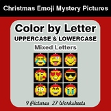 Color by Letter: Lowercase & Uppercase - Christmas Emoji M