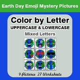 Color by Letter: Lowercase & Uppercase -  Earth Day Emoji