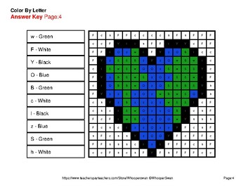 Color by Letter: Lowercase & Uppercase - Earth Day Mystery Pictures