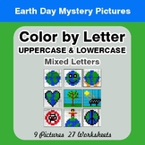 Color by Letter: Lowercase & Uppercase - Earth Day Mystery