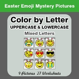 Color by Letter: Lowercase & Uppercase - Easter Emoji Myst