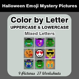 Color by Letter: Lowercase & Uppercase - Halloween Emoji M
