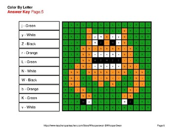 Color by Letter: Lowercase & Uppercase - Monsters Mystery Pictures