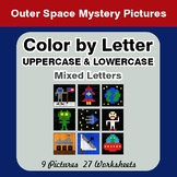 Color by Letter: Lowercase & Uppercase - Outer Space Myste