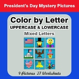 Color by Letter: Lowercase & Uppercase - President's Day M
