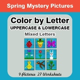 Color by Letter: Lowercase & Uppercase - Spring Mystery Pictures
