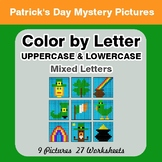 Color by Letter: Lowercase & Uppercase - St. Patrick's Mys