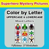 Color by Letter: Lowercase & Uppercase - Superhero Mystery