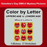 Color by Letter: Lowercase & Uppercase - Valentine's Day E