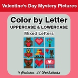 Color by Letter: Lowercase & Uppercase - Valentine's Day M