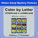 Color by Letter: Lowercase & Uppercase - Winter Snowman Em