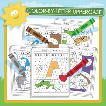 Color by Letter Uppercase