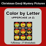 Color by Letter: Uppercase (A-Z) - Christmas Emoji Mystery